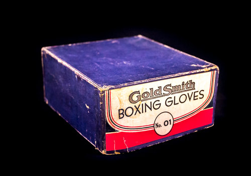 BOX ONLY: GoldSmith Boxing Gloves No. 01 Salesman Sample Size