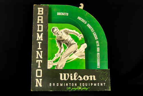 Wilson Badminton Equipment Display