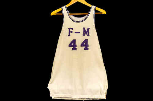 #44 F-M White Basketball Jersey