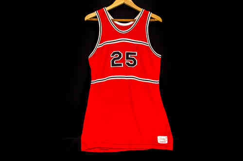#25 Red Spanjian Basketball Jersey