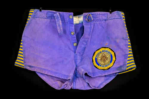 "Blue Cotton ""American Legion"" Athletic Shorts"