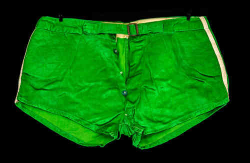 Green Tagless Satin Athletic Shorts