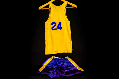 #24 Boys' Large Blue and Gold Post Basketball Uniform Set