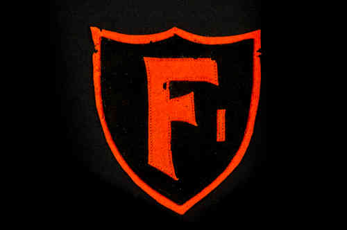 "Black and Orange ""F"" Patch"