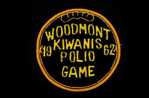 Black and Gold 1962 Woodmont Kiwanis Polio Game Patch