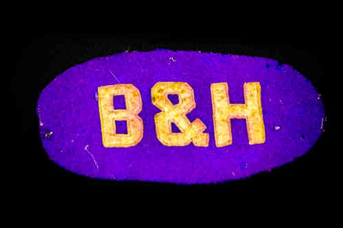 "Purple Oval ""B&H"" Patch"