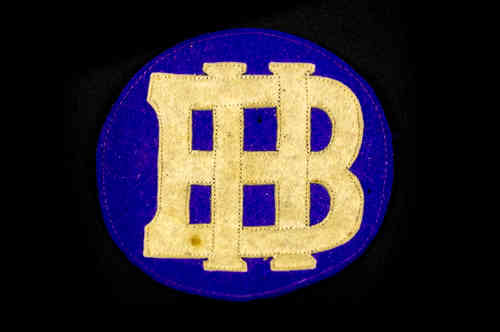 "Purple and White ""BH"" Patch"