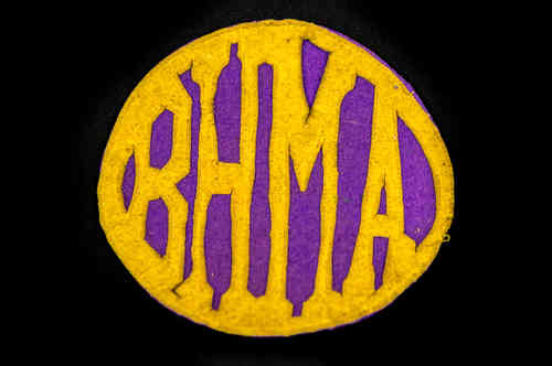 "Purple and Tan ""BHMA"" Patch"