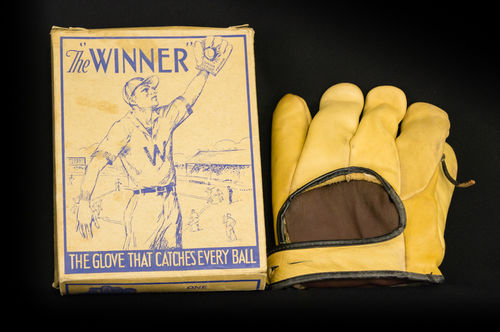 "1920's-1930's Junior League ""The Winner"" Fielder's Glove in Box"