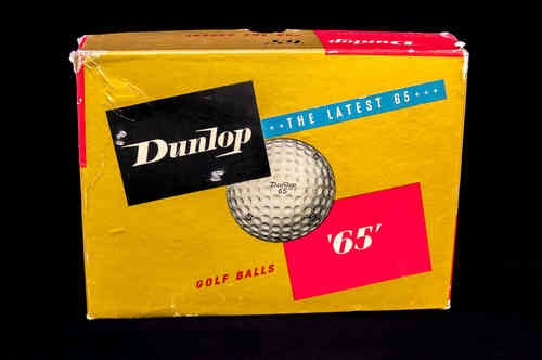 "BOX ONLY: Dunlop Golf Balls ""65"""