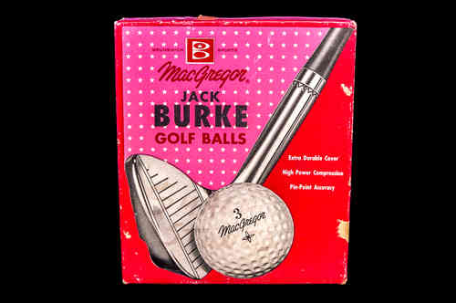 BOX ONLY 1950's-1960's MacGregor Jack Burke Golf Balls