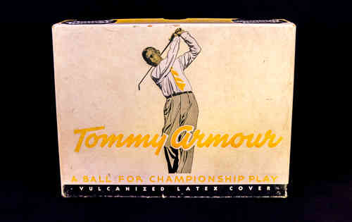 BOX ONLY 1940's Tommy Armour Golf Ball Box