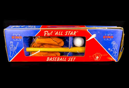"King Products ""Pal"" All Star Baseball Set in box"