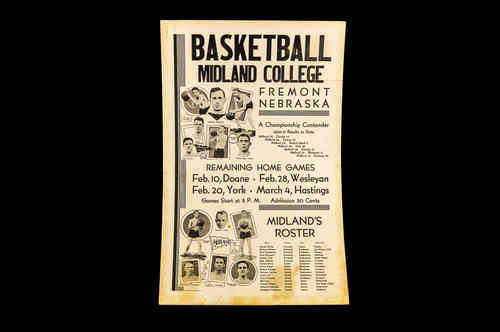 1931 Midland College Basketball Poster
