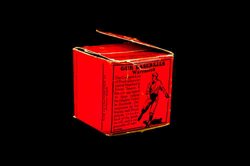 BOX ONLY:  Unbranded Baseball Box