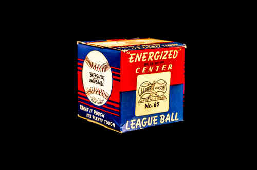 "BOX ONLY: J. deBeer ""Energized"" Center No 68 Baseball"