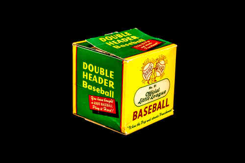 BOX ONLY: J. deBeer Double Header Approved Little League Baseball No 91