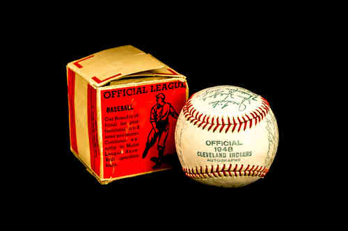 Official 1948 Cleveland Indians Autographs Baseball in box