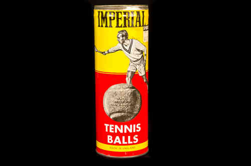 CAN ONLY: Imperial Tennis Ball Cannister Key wind can