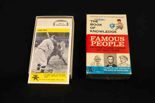 1960's Ed-U-Cards Flash Cards with Babe Ruth