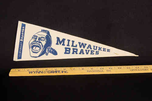 1950's Bazooka Pennant Milwaukee Braves 14""