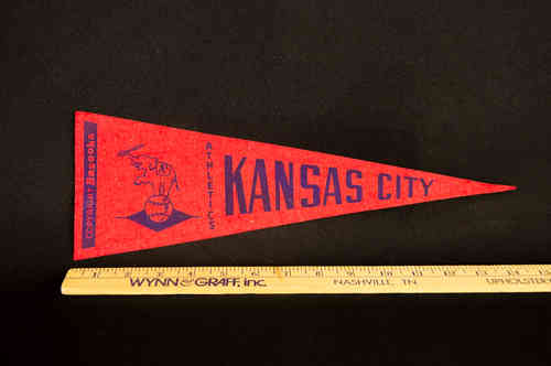 1950's Bazooka Pennant Kansas City Athletics 14""