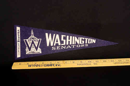 1950's Bazooka Pennant Washington Senators 14""