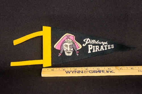 1960's Mini Pennant Pittsburgh Pirates Black 8.5""