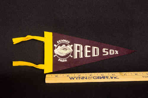 1960's Mini Pennant Boston Red Sox Maroon 8.5""