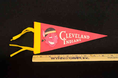 "1960's Mini Pennant Cleveland Indians 8.5"" Red"