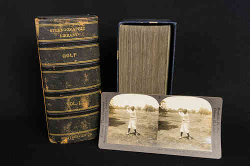 1930s Golf Vol 1 Keystone Stereoview Cards in Box