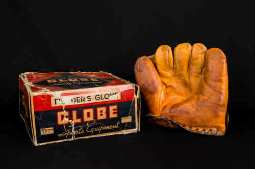 1940's Globe Sports Equipment Fielder's Glove No 120 In Box