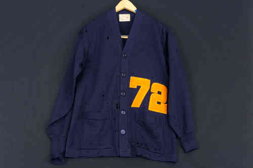 University of Illinois Coane Letterman Knit Cardigan #72 Size 44