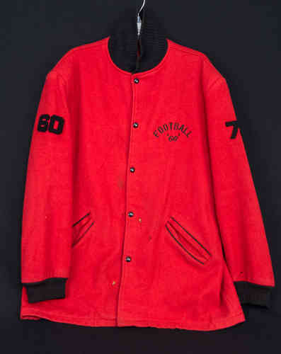 "1960 DR brand ""Waterdown"" Wool Letterman Football Sweater #74"