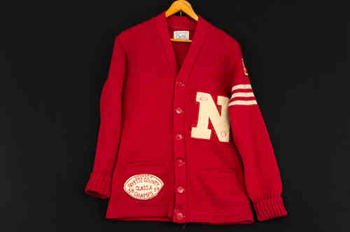 1950's Yearite Sportswear Letterman Sweater, Fayette County Class A Champs