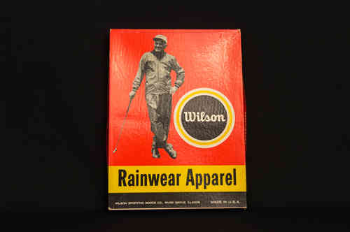 BOX ONLY: Golf Wilson Rainwear Apparel Vintage Display Picture box of David Graham