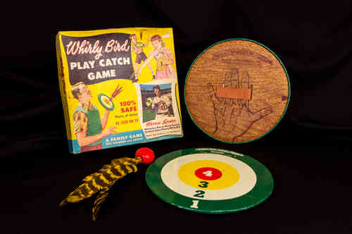 Whirly Bird Play Catch Game in Box with Milwauke Braves Warren Spahn