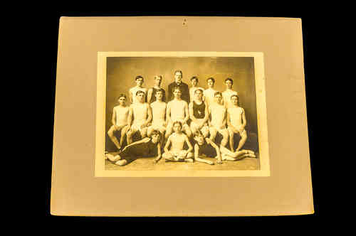 Large B&W Youth Track Athletic Team Photo New York