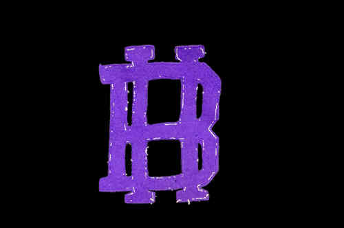 "Purple ""BH"" Felt Uniform Patch"