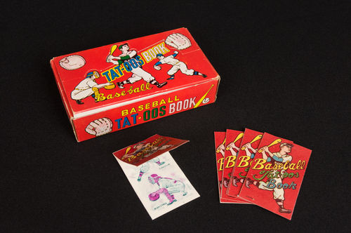 Japanese Baseball Temporary Tattoos in Display Box