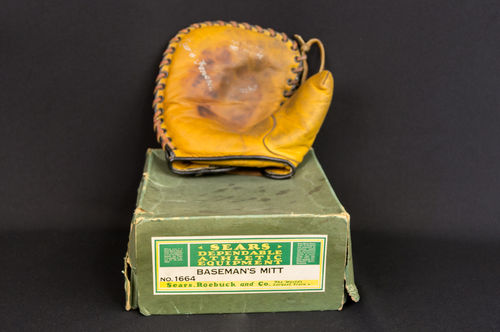 Depression-Era Sears & Roebuck 1st Baseman's Mitt in Box No 1664 Lewis Fonseca