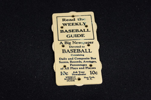 Weekly Baseball Guide Celluloid Baseball Scorer