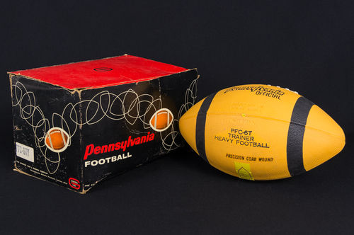Vintage New-In-Box YELLOW Pennsylvania Champion Rubber Football
