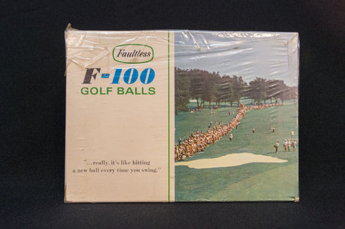 UNUSED Faultless F-100 Golf Balls Master Box Augusta Picture Box