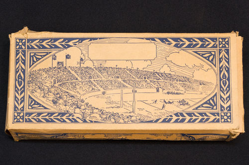 BOX ONLY: Vintage Early Ball Box with Princeton-Yale Game Illustration