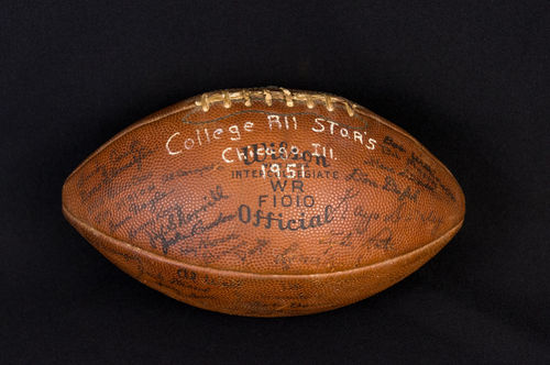 Wilson 1951 College All Stars Football Team Signed with over 50 Autographs