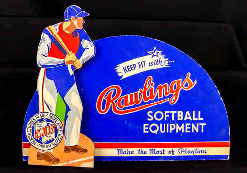 Rawlings Pop-up Softball Equipment Display
