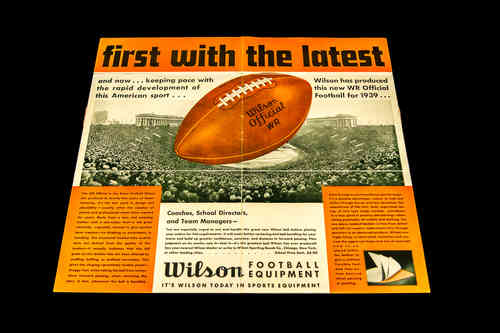 1939 Wilson Football Equipment Tear-Out ad