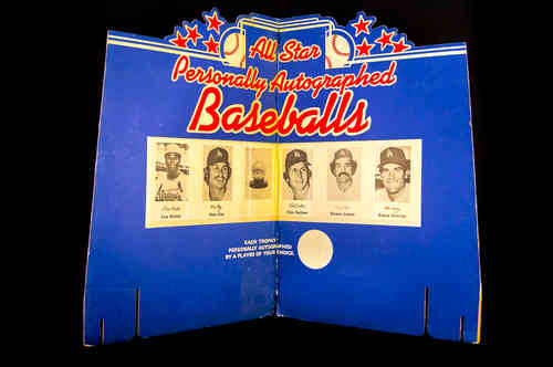 Cardinals | Dodgers All Star Baseballs Display