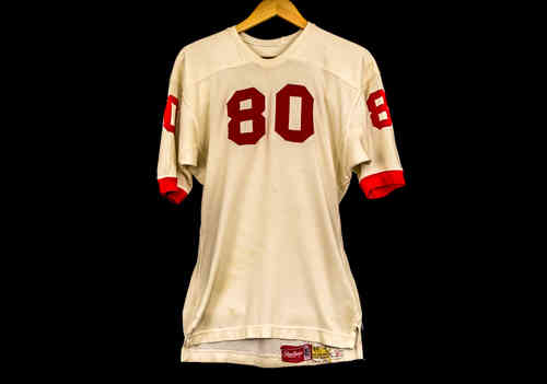 #80 Cream Sleeved Football Jersey